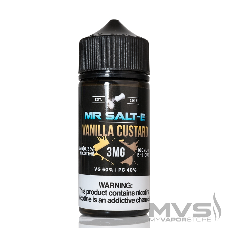 Vanilla Custard by Mr. Salt-E eJuice - 100ml