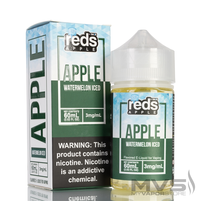 Iced Watermelon Reds Apple Ejuice by 7 Daze - 60ml