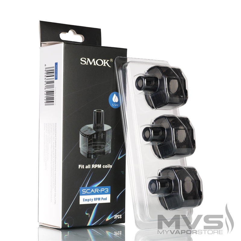 SMOK SCAR-P3 Empty Pod Cartridge - Pack of 3