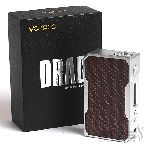 VooPoo DRAG 157W TC Mod - Silver and Red