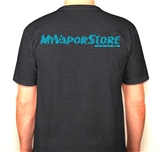 Classic V Neck Shirt - Charcoal/Turquoise