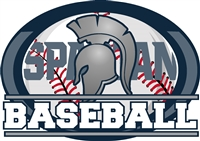 Spartan Baseball Car Decal