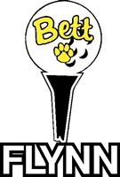 Golf Tee Decal with Name