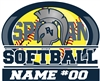 Softball Window Decal