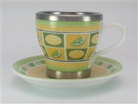 """Lemon & Lime"" Tea Cup & Saucer"