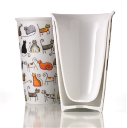 Cats Porcelain Tea Glass