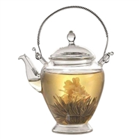 CHA CULT FLOWERING GLASS TEAPOT