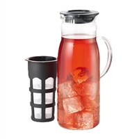 Iced Tea Infuser Glass Pitcher
