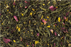 Peachy Treasures Black & Green Caff Loose-Leaf Tea