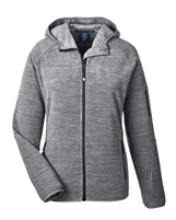 WOMEN'S <i>PERFECT FIT</i> &trade; MELANGE VELVET HOODED FLEECE JACKET