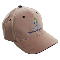Men's Khaki & Navy Trimmed Baseball Cap