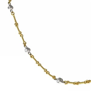 Textured Link Diamonds by the Inch Two Tone Yellow Gold