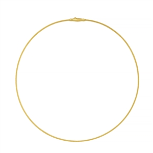 1.5mm gold and white gold cable wire necklace