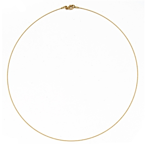 gold and white gold cable wire necklace Single Strand .5mm