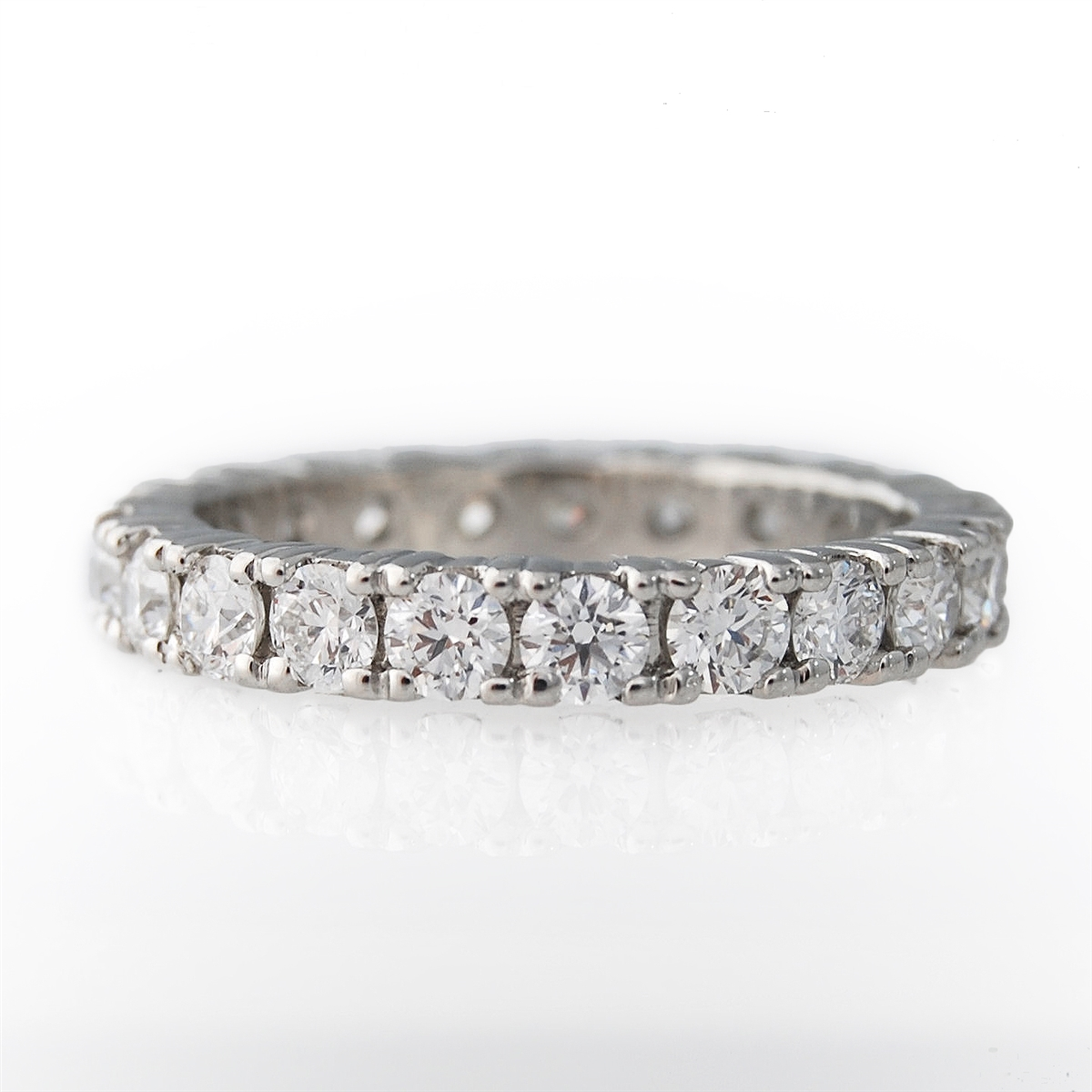 diamond in micro pave gold eternity band white bands