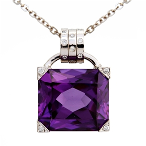 Big Rock Amethyst Spin Pendant