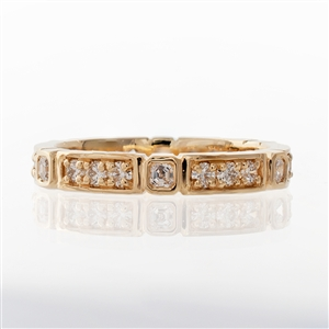 Asscher & Round Diamond Eternity Band