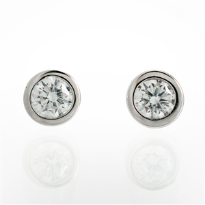 .20ct bezel set diamond studs