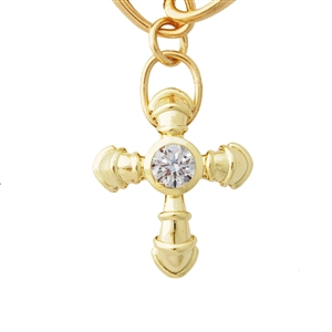 Bowed Diamond Cross .25ct