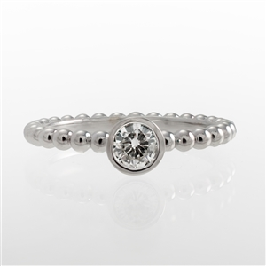 .25ct Diamond Bezel BeeBee Ring, Stackable,