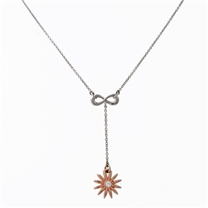 Daisy Flower Diamond Lariat, lariat cable chain
