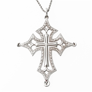 Hand Engraved Diamond Cross