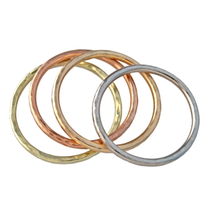 Hammered Stackable Thin Band