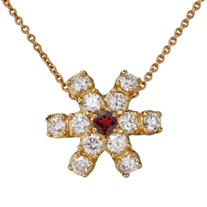 HopeStar 35 Diamond Pendant Necklace with Birthstone