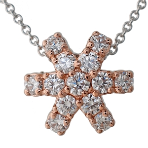 HopeStar 35 Diamond Pendant Necklace, Reversible