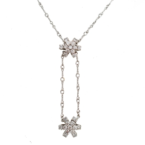 HopeStar 70 Diamond Lariat, .5 carat of ideal cut four prong set diamonds. 14k Gold.