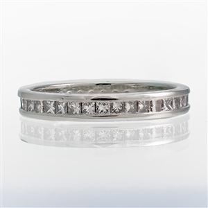 Princess Diamond Channel Set Eternity Band