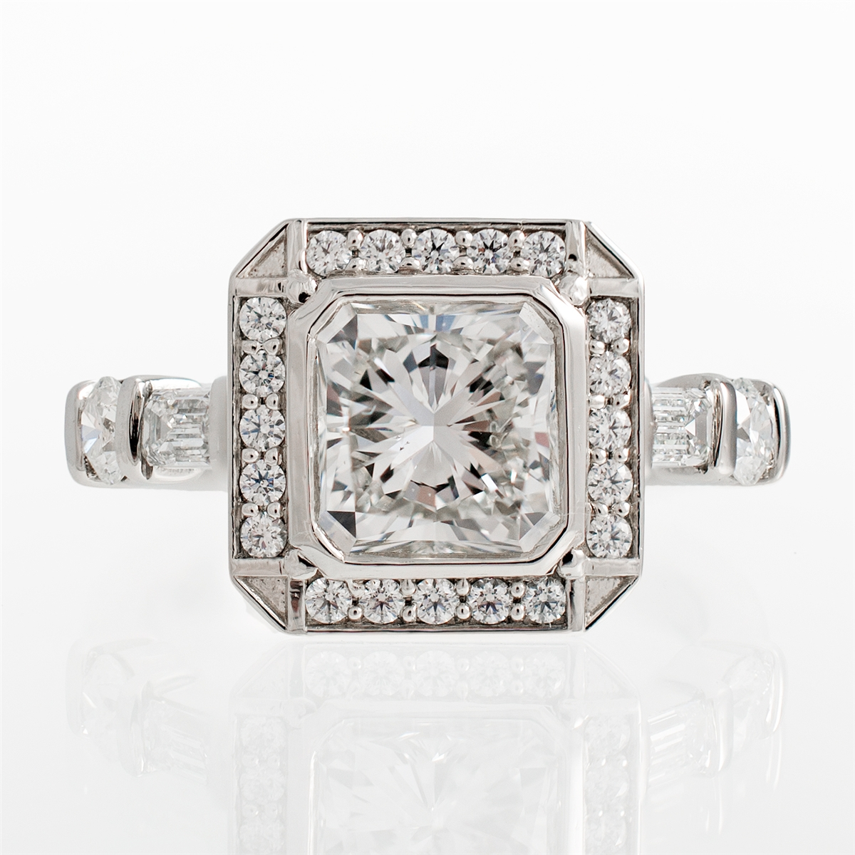 j briggs amp co radiant art deco diamond halo engagement ring