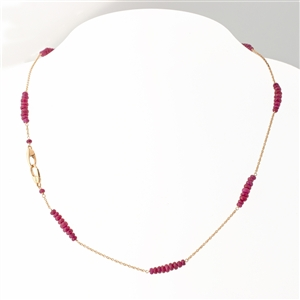 Versa Ruby Necklace in 18k Yellow Gold