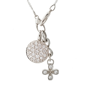 Versa Pave Petal Collection Round Bundle, .82ct, Chain included