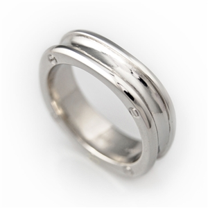 Screw Head Squared Men's Wedding Band