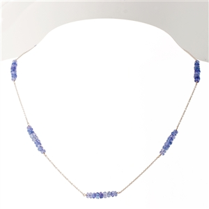 Versa Tanzanite Necklace in 18k White Gold