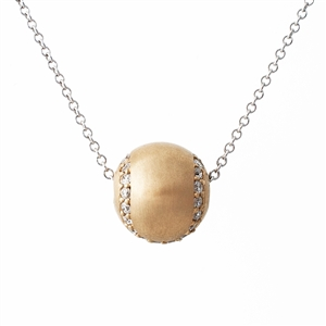 Tennis Ball Necklace with Diamonds