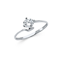 14KW CZ Engagement Ring