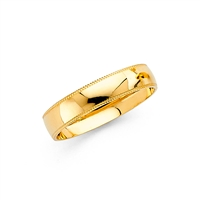 14KY 4mm Milgrain Ladies Wedding Band
