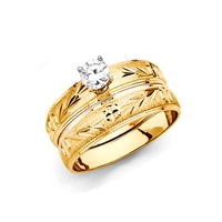 14KY Ladies Wedding Band Only