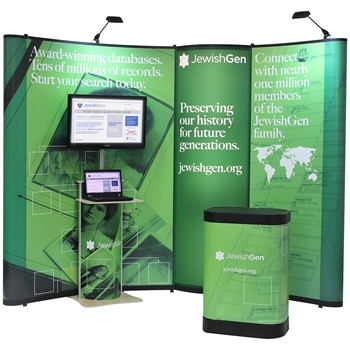 Value 10 ft Pop-Up with Bubble Panel & Monitor Stand