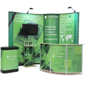 Value 10 ft Pop-Up with Bubble - Birch Media/Reception Kit