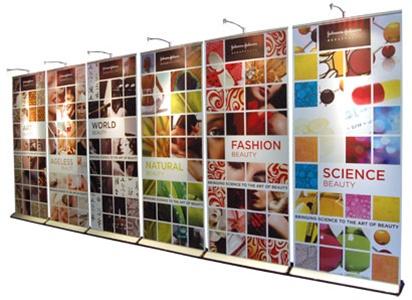 10 x 20 Expand Quickscreen 3 Banner Wall | 10 x 20 Trade Show Displays