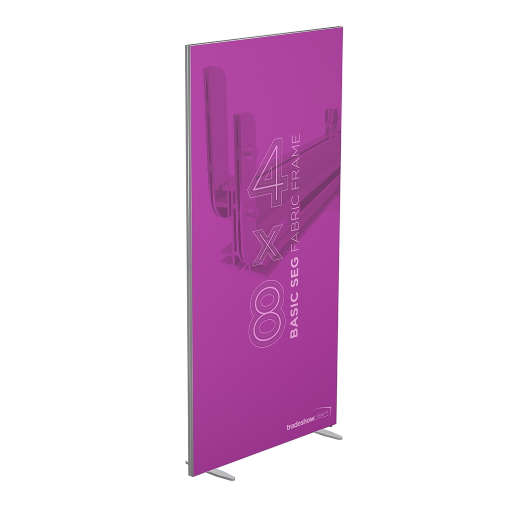 4 ft x 8 ft Basic SEG Fabric Frame | 10 x 10 Trade Show Displays