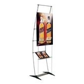 Penguin Banner Stand with Brochure Shelf