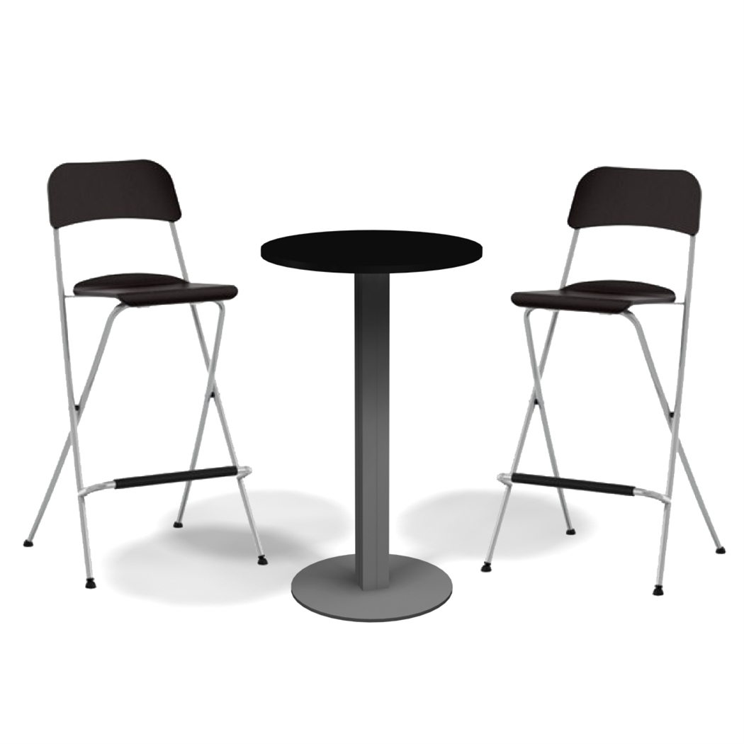 Exhibit Line 29  Bar Table Set  sc 1 st  Tradeshowdirect : black bar table and chairs - Cheerinfomania.Com