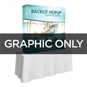 Backlit 5 ft Table Top Hopup Replacement Graphic