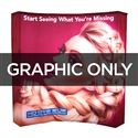 8 ft Curved Backlit VBurst Replacement Graphic
