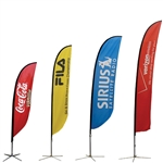 Curved Outdoor Flag