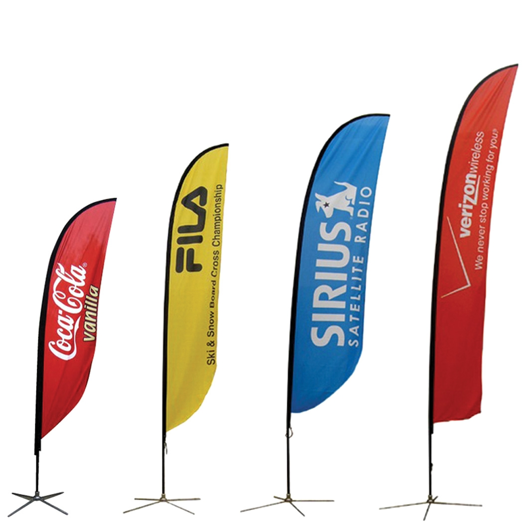 Curved Outdoor Flag  sc 1 st  Tradeshowdirect : door banners flags - pezcame.com